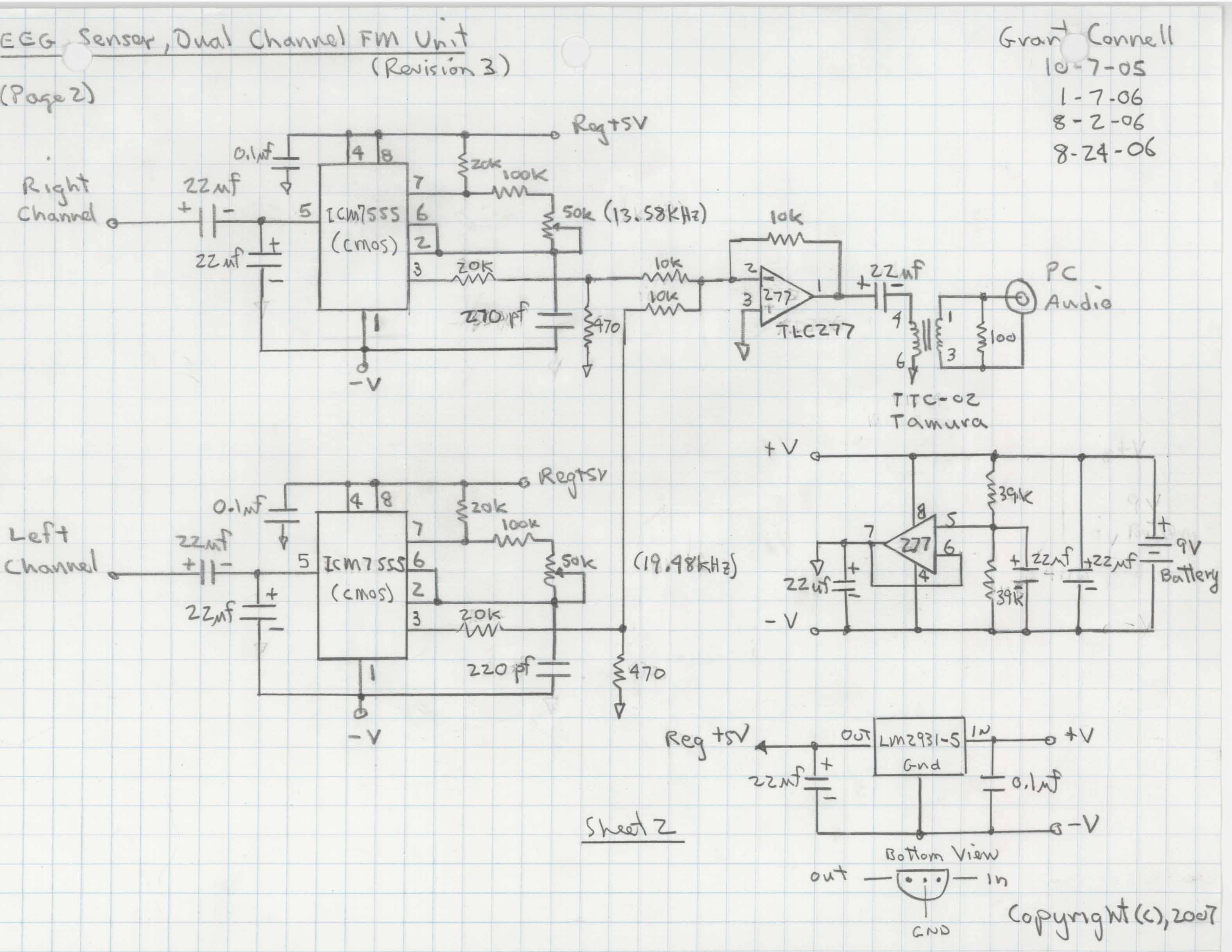 Soundcardeeg Sceeg Prototype Dual 2 Channel Amp Wiring Diagram Unit Sheet