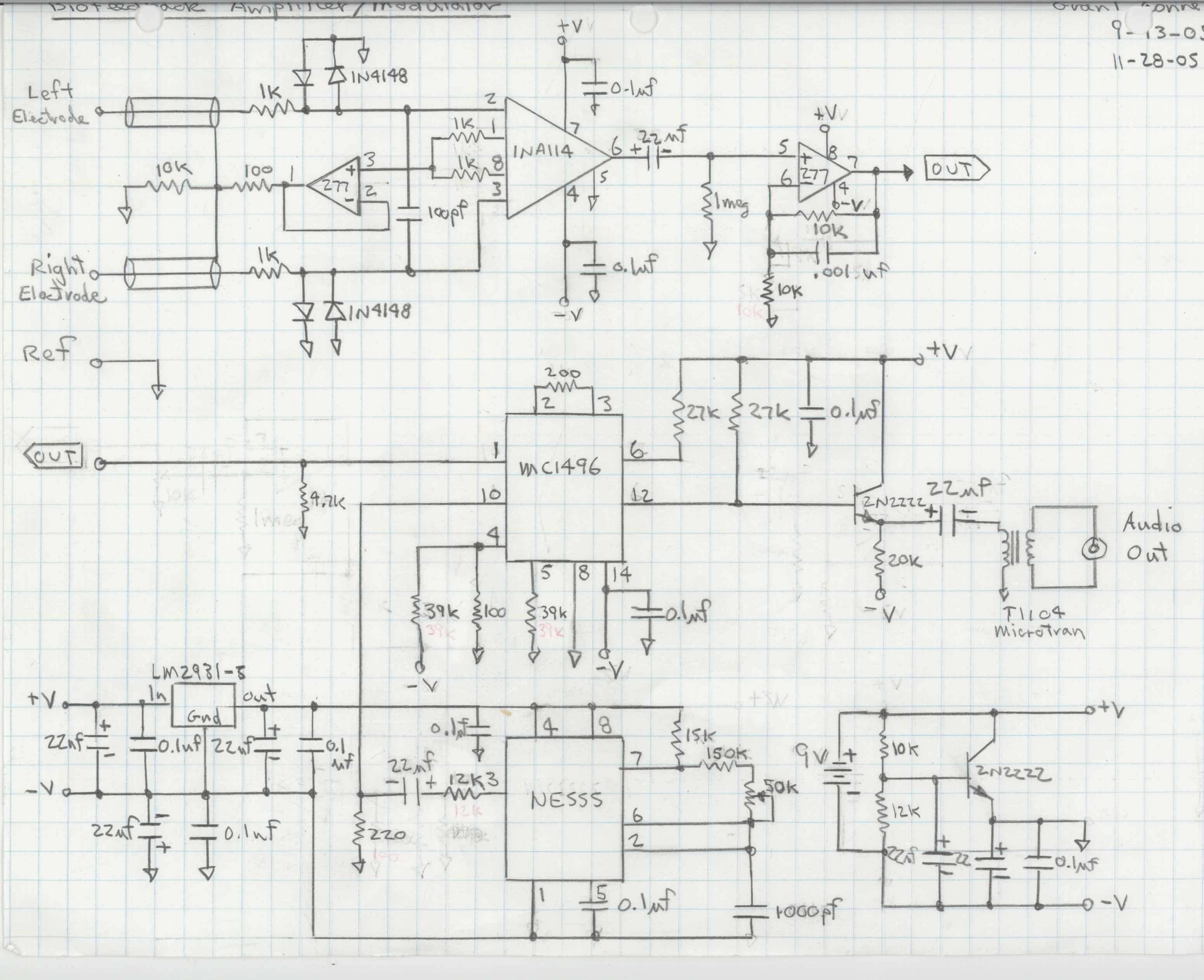 Soundcardeeg Sceeg Prototype Eeg Schematic The Fm Unit Can Be Downloaded From Sheet 1 And 2 Software For Prototypes Probe Install