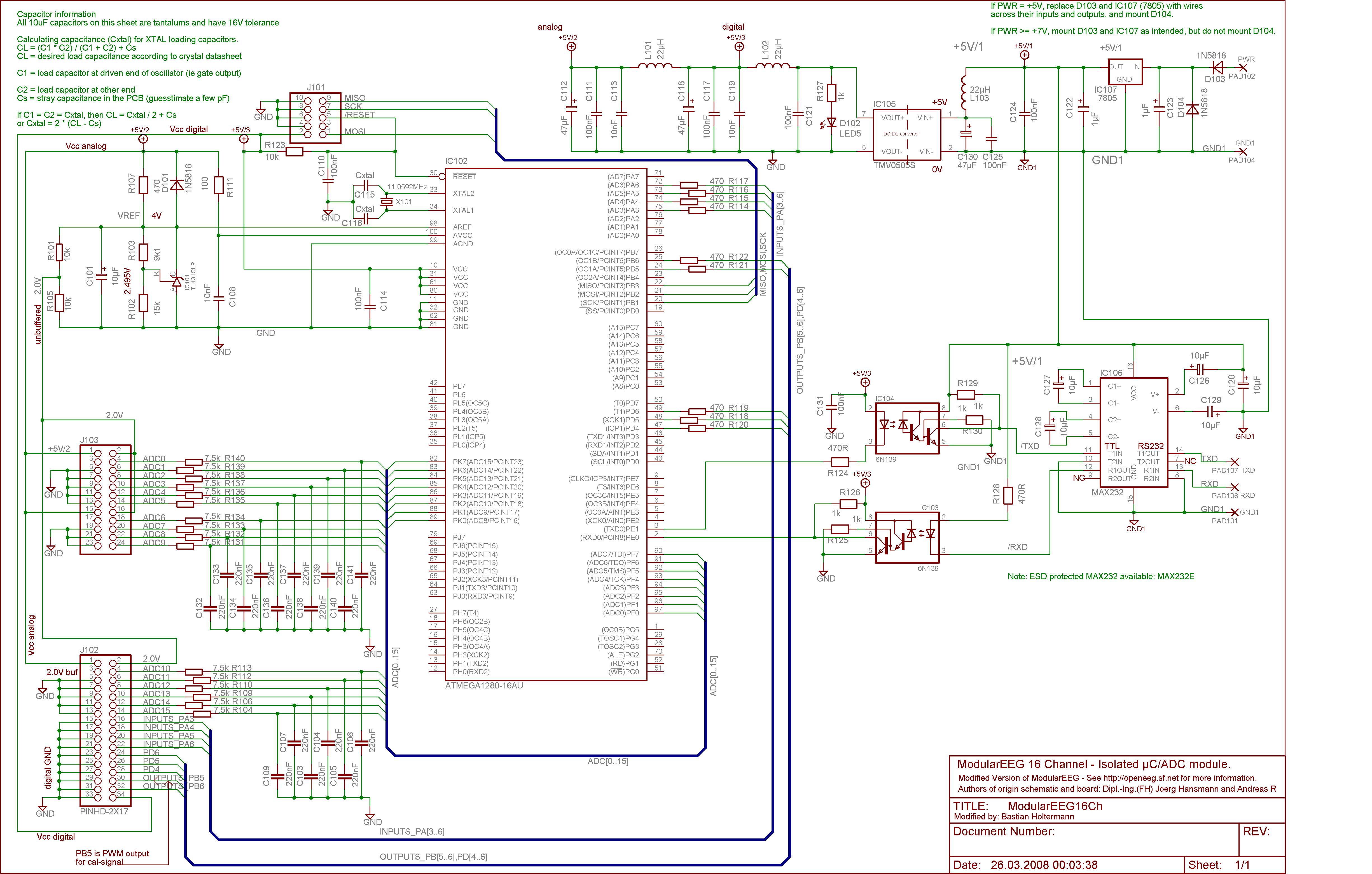 The Modulareeg Circuit Diagram Pcb Design Schematic Layout And Sources