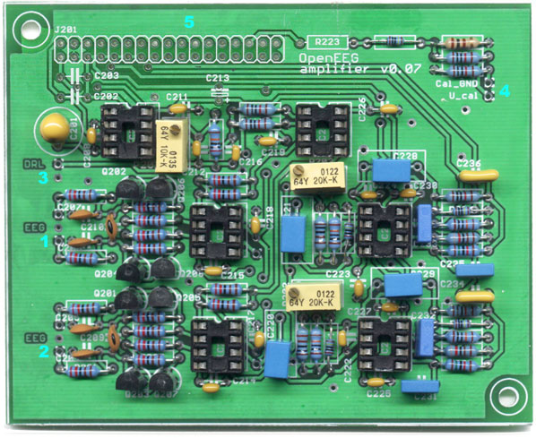 Photo of the amplifier board